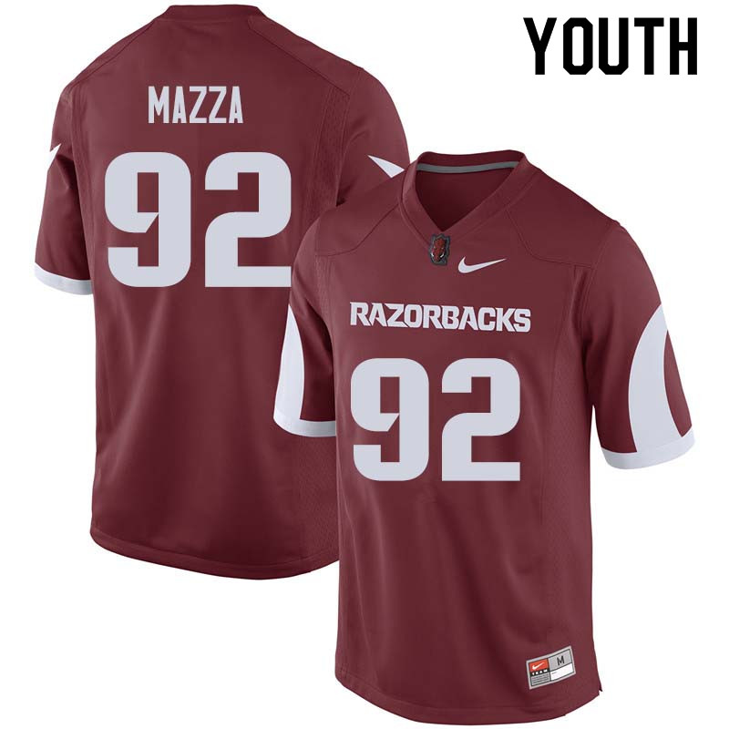 Youth #92 Blake Mazza Arkansas Razorback College Football Jerseys Sale-Cardinal